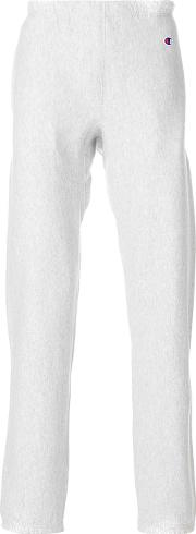 Champion Fitted Track Trousers Unisex Cottonpolyester Xs, Grey