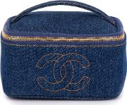 Denim Cosmetic Case
