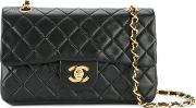 Quilted Double Flap Shoulder Bag