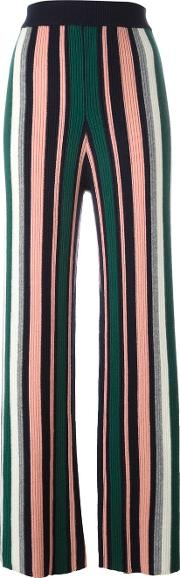 Ribbed Intarsia Trousers Women Cashmere S, Women's