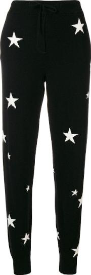 Star Knitted Slim Fit Trousers