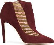 'azalea' Booties Women Leathercalf Suede 38, Women's, Red