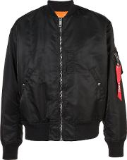 Christian Dada Full Zip Bomber Jacket Men Nylonpolyester 48, Black