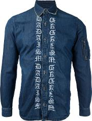 Embroidered Denim Shirt Men Cotton 46