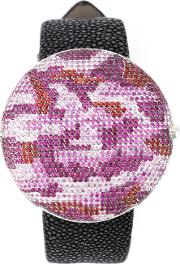 'clou' Dinner Watch With A Camouflage Pattern
