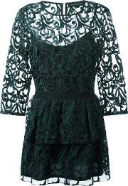 Lace Dress Women Polyesterspandexelastaneviscose 44, Women's, Green