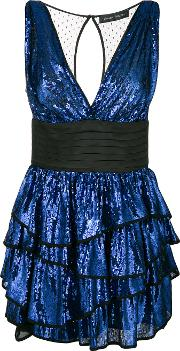 Sequin Ruffled Dress