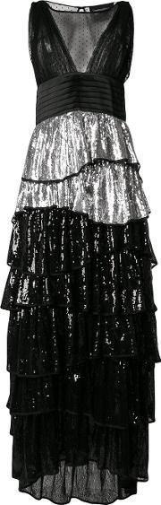 Sequin Tiered Dress