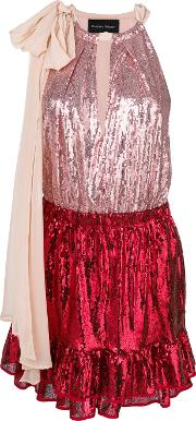 Two Tone Sequinned Dress
