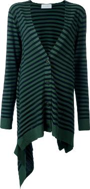 'krista' Striped Cardigan Women Polyesterviscosevirgin Wool L, Blue