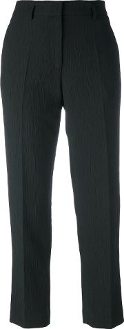 Pleated Trousers Women Cottonlinenflaxpolyamideviscose 36, Women's, Black