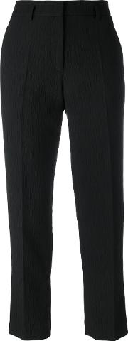 Pleated Trousers Women Cottonpolyamideviscoselinenflax 42, Black