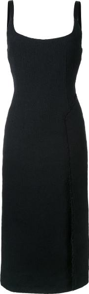 Fitted Dress Women Cottonpolyesterviscosepolyimide 6, Black