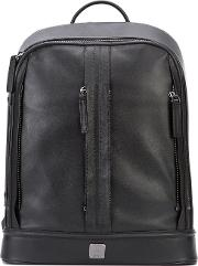Classic Backpack Men Leather One Size, Black