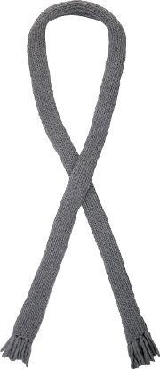 Oversized Hand Knit Scarf Men Wool One Size, Grey