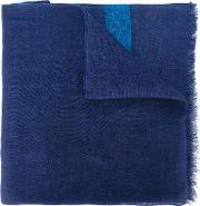 Church's Striped Scarf Men Linenflax One Size, Blue