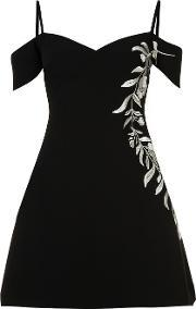Floral Embroidery Dress Women Acetate 4