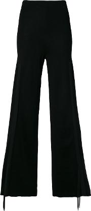 Circus Hotel Knitted Palazzo Pants Women Virgin Wool 40, Black