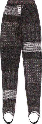 Patchwork Knit Trousers