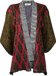 Patterned Cardigan Women Polyesterviscose 40, Black