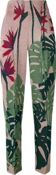 Slim Fit Floral Trousers