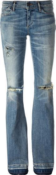 Flared Jeans Women Cottonpolyurethane 26