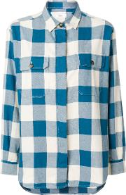 Closed Checked Shirt Women Cotton S, Blue