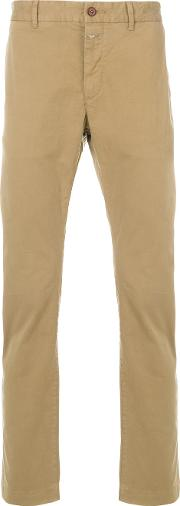 Closed Chino Trousers Men Cottonspandexelastane 32, Brown