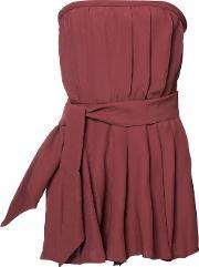 Cmeo Strapless Playsuit Women Polyesterviscose Xs