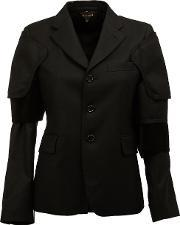 Buttoned Jacket Women Cottoncuprowool M