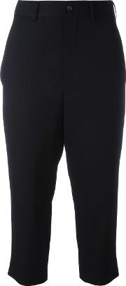 Cropped Trousers Women Cuprowool L, Blue