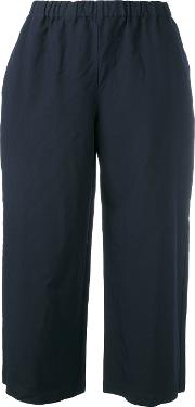 Cropped Trousers Women Polyester Xs, Blue