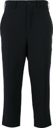 Cropped Trousers Women Cuprowool S, Black