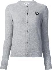 Button Down Cardigan Women Wool S, Grey