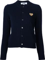 Comme Des Garcons Play Embroidered Heart Cardigan Women Wool M, Blue
