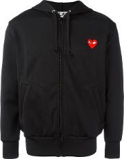 Comme Des Garcons Play Embroidered Heart Hoodie Men Polyester M, Black