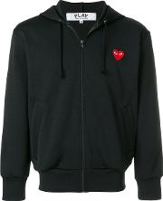 Comme Des Garcons Play Heart Logo Zipped Hoodie