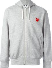 Comme Des Garcons Play Zipped Hoodie