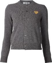 Embroidered Heart Cardigan Women Wool Xs, Grey
