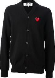 Embroidered Heart Cardigans Unisex Wool L, Black