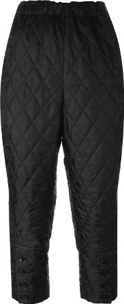 Quilted Jodhpur Trousers Women Polyester L, Black