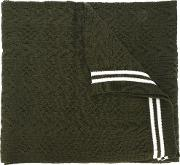 Striped Scarf Men Acrylic One Size, Green