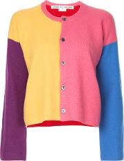 Comme Des Garcons Vintage Colour Block Knit Cardigan