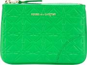'colour Embossed A' Purse Unisex Calf Leather One Size, Green
