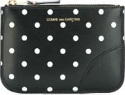'polka Dots' Printed Wallet Unisex Leather One Size