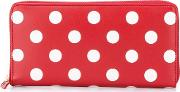 'polka Dots' Wallet Unisex Calf Leather One Size, Red
