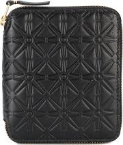 Comme Des Garcons Wallet Embossed Small Wallet Men Leather One Size, Black