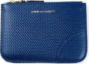 Comme Des Garcons Wallet Zipped Textured Coin Wallet