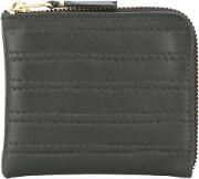 Embossed Stitch Wallet Men Leather One Size, Black