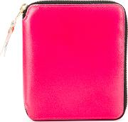 Neon Panel Wallet Unisex Leather One Size, Pinkpurple